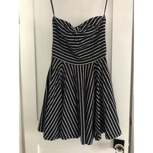 Betsey Johnson black and white striped strapless